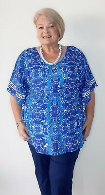 AU25 • Buy Orientique Little Venice Rayon Kaftan Style Tunic Only Two Left In Sizes 20 & 22