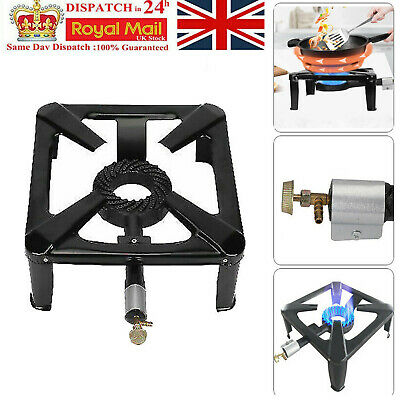 £20.69 • Buy Large Lpg Gas Burner Cooker Stove Cast Iron Boiling Camping Catering Restaurant