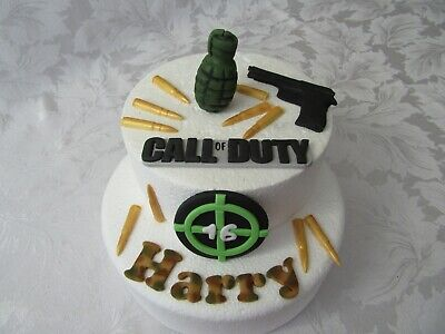 £22.49 • Buy Edible Handmade Call Of Duty Video Game, Army Cake Topper Fondant Decoration
