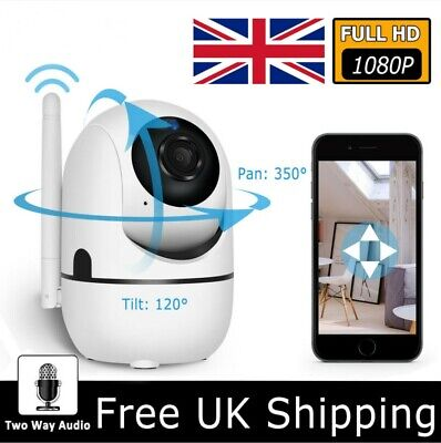 1080P HD Wireless WIFI IP CCTV Camera Smart Home Security Night Vision Indoor UK • 17.49£