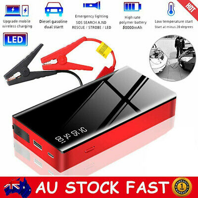 AU63.88 • Buy 50000mAh Vehicle Car Jump Starter LED Battery Booster Pack USB Power Bank Torch