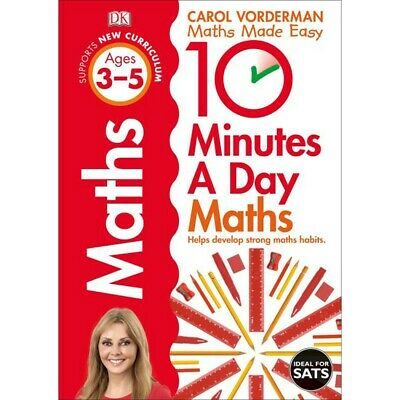 £7 • Buy 10 Minutes A Day Maths: Ages 3-5 By Carol Vorderman (Paperback), Books, New