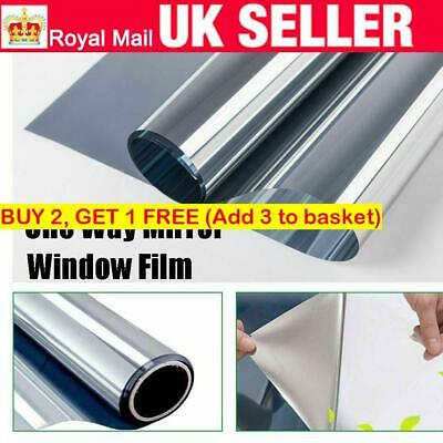 Mirror Face Window Film Sticker--One Way,Static,Daytime Privacy, Non-Adhesive~  • 4.68£