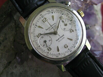 $ CDN914.64 • Buy Vintage 17j Select Watch Chronograph Mens Wrist Watch, Venus 188 Movement