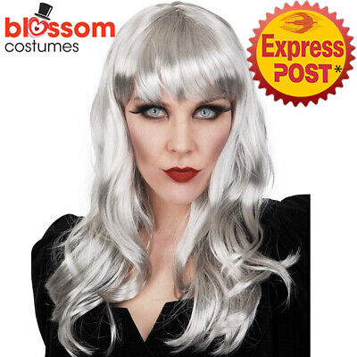 W842 Nadia Grey Bride Ghost Haunted Zombie Long Corpse Halloween Costume Wig • 11.94£