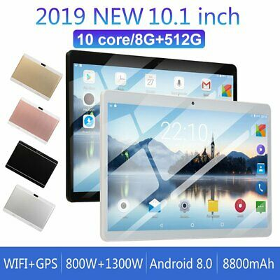 AU121.50 • Buy 10.1  Tablet 8G+128G 512G 10 Core 4G-LTE Android8.0 Dual  Camera Wifi Phablet