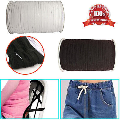 $ CDN3.25 • Buy  Flat Elastic Bands Cord For Trousers Sewing Waist Support Bracelet Trim Crafts