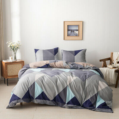 £31.75 • Buy Geometric Duvet Quilt Cover Pillowcases Bedding Set Twin Queen US Size