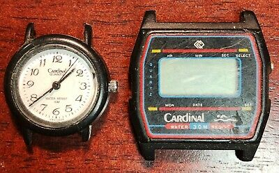 $ CDN14.95 • Buy Lot Of 2x Vintage Cardinal Quartz And Digital Watches - Functional - No Straps