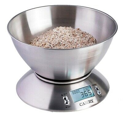 5KG LCD Digital Kitchen Scales Stainless Steel Bowl Baking Cooking Food Weighing • 12.99£