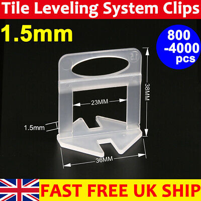 100/200X Tile Leveling System Wedges Spacer Tiling Alignment Wall Floor Tool Kit • 5.99£