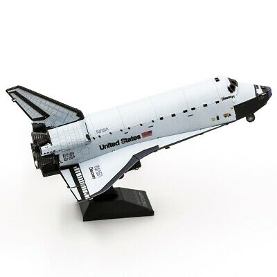 Space Shuttle Discovery : Metal Earth 3D Laser Cut Miniature Model Kit MMS211 Ag • 15.75£