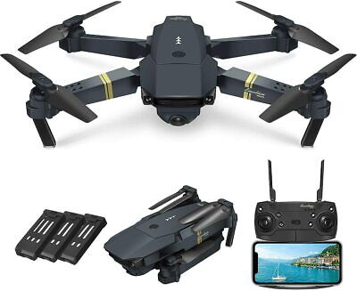 Drone X Pro WIFI FPV 1080P HD Camera 3 Batteries Foldable RC Quadcopter UK • 54.73£
