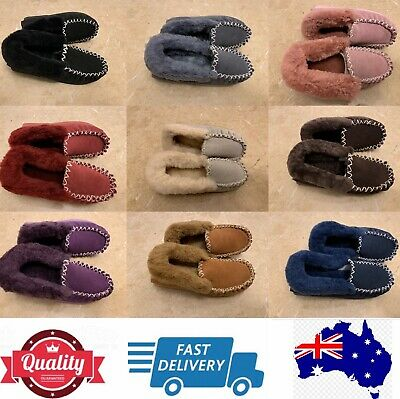 AU42.50 • Buy 100% Sheepskins UGG Moccasin Slippers, Aussie Ladies' Size Measurement, AU Stock