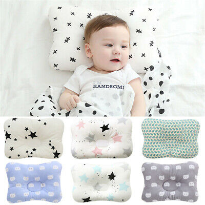 Soft Cotton Newborn Baby Prevent Flat Head Anti Roll Infant Pillow Positioner UK • 5.99£