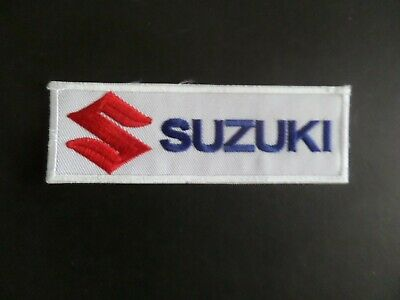 $3.50 • Buy SUZUKI MOTORCYCLES  BLACK & RED  Embroidered 1-1/2 X 4-1/2 Iron On Patch
