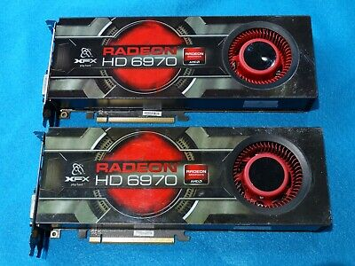 $100 • Buy Two Xfx Xhd 6970 (hd-695a-cnfc) 2gb Gddr5 Sdram Pci Express