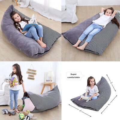 Extra Large Stuffed Animal Toy Storage Bean Bag Kid Cover Soft Seat Velvet Chair • 12.33£