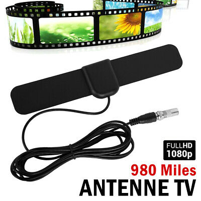 AU14.45 • Buy Indoor Digital HDTV Free View Antenna With TV Aerial Amplifier 980 Mile Range AU