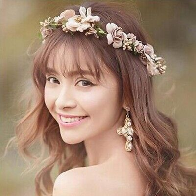 $1.83 • Buy Women Boho Flower Floral Hairband Headband Crown Party Bride Wedding Beach Gift