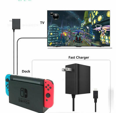 $14.99 • Buy AC Adapter Fast Charger For Nintendo Switch / Lite / Dock -Support TV & Handheld