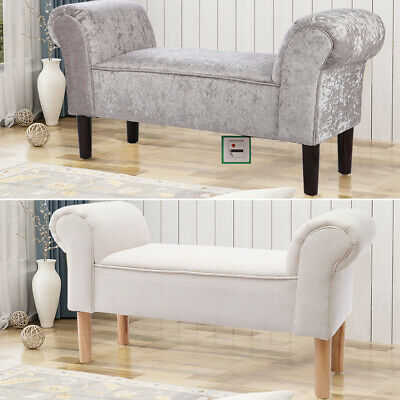 £75.95 • Buy Soft Fabric Window Seat Bed End Bench Sofa Side Pouf Pouffe Lounge Chair Bedroom