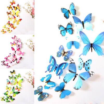 £2.12 • Buy Butterflies Wall Stickers 3D Decal Colourful Kids  Room DIY Decoration 12pcs