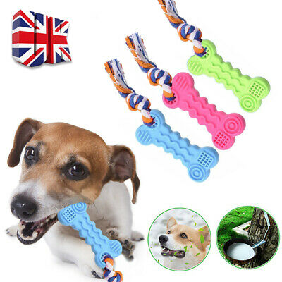 New Dog Pet Safety Chew Toys Bite-Resistant Puppy Durable Rubber Dental Teeth • 2.59£