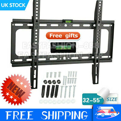 Universal TV Wall Bracket Vesa Mount Slim For LCD LED Plasma Monitor 32 - 55  UK • 6.99£