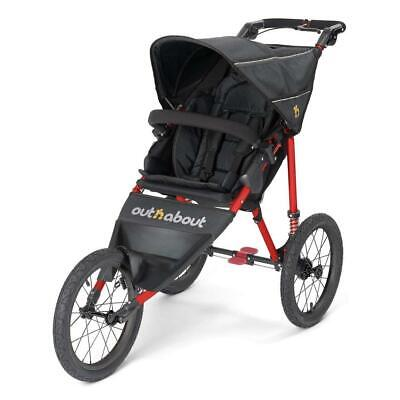 £319 • Buy Out N About Nipper Sport V4 Jogger Pushchair (Raven Black With Red Frame)