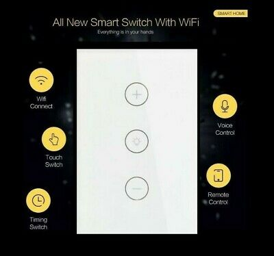 AU47 • Buy AU Approved Wifi / Glass Smart Dimmer Switch. Google/ Alexa Compatible.