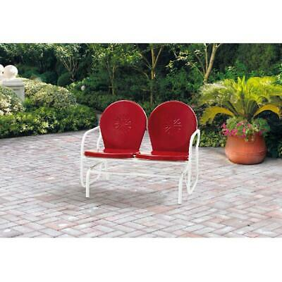 $209.88 • Buy Outdoor Retro Metal Glider Mainstays Double Seater Durable Steel Patio Garden