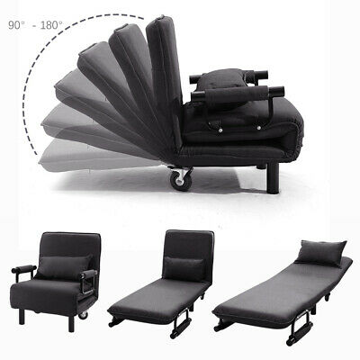 Indoor Fabric Folding Single Sofa Bed Arm Chair Sleep Station Couch With Pillow • 143.94£