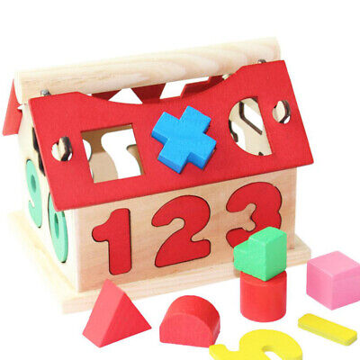 £6.89 • Buy Digital House Shape Sorter Wooden Puzzle Toy Kids Early Educational Game Gift UK