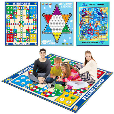 Traditional Giant Ludo Game Set Foldable Family Outdoor Travelling Game Toys • 12.97£