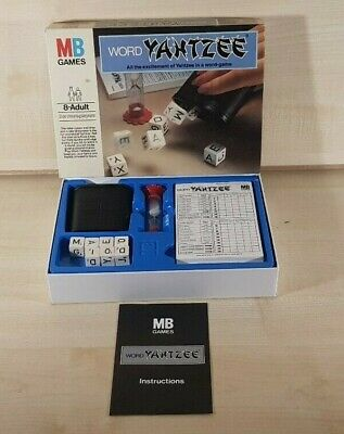 MB Games Word Yahtzee   Dice Board Game COMPLETE • 9.99£