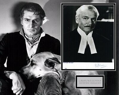 Sir Laurence Olivier Signed Cool Photo Mount Uacc Reg 242 • 275£