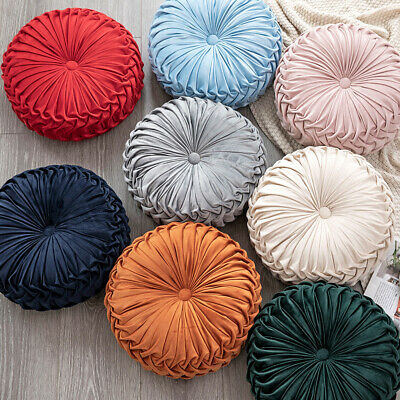New Cushion Soft PLUSH Velvet Cushions Luxury Chic Filled Scatter Cushion Round • 11.88£
