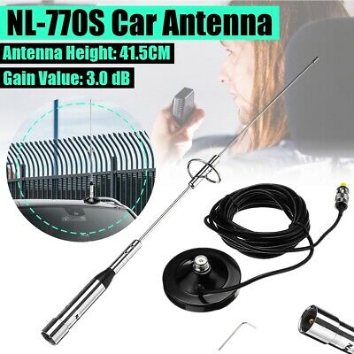 3.0dB Dual Band Car Radio Mobile Station Antenna NL-770S UHF/VHF Walkie Talkie • 17.99£
