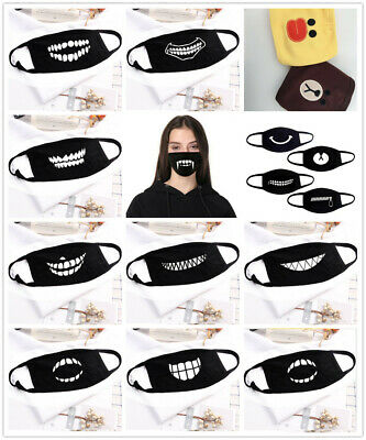 UK Cotton Anti-Dust Mouth Face Mask Cover Respirator Cycling Anime Black • 3.49£