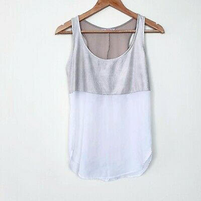 AU15 • Buy Bershka Tank Top Gold And White Split Womens Size S