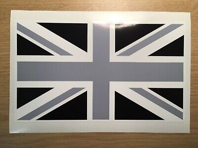 UK GB Union Jack Flag Vinyl Sticker Decal For Your Car Black/Grey Exterior Grade • 3.50£