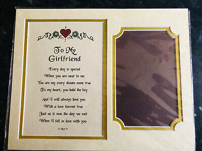 £3 • Buy Girlfriend Photo Frame - Place Poem In A 10 X 8 Frame - Girlfriend - Collage