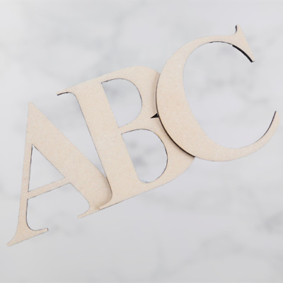 Georgia Bold Wooden MDF Alphabet Letters & Numbers 3.2mm Thick Letters & Numbers • 0.99£