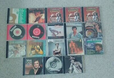 $ CDN25 • Buy Lot Of 18 Assorted Country CDs - Hank Williams, Clint Black, Johnny Cash