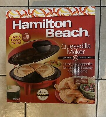 $30 • Buy NEW- Hamilton Beach Quesadilla Maker Red  - 6 Wedges