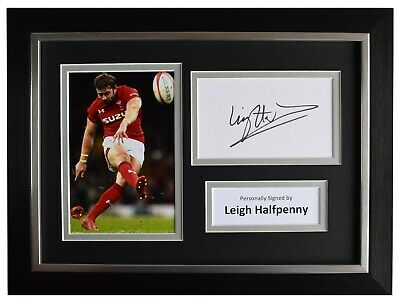 £49.99 • Buy Leigh Halfpenny Signed A4 Framed Autograph Photo Display Wales Rugby Union COA