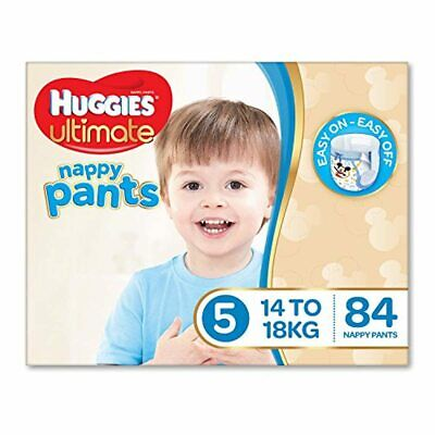AU104.95 • Buy Huggies Ultimate Nappy Pants, Boys, Size 5 Walker, 14-18kg, 84 Count