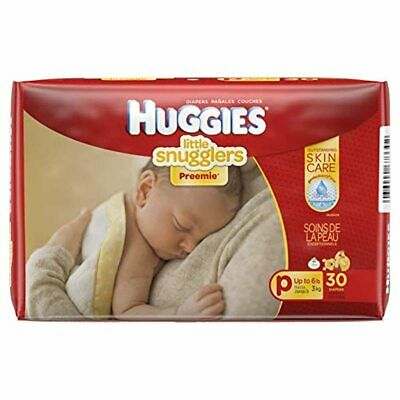 AU24.95 • Buy Huggies Premmie Nappies, Unisex, (up To 3kg), 30 Nappies