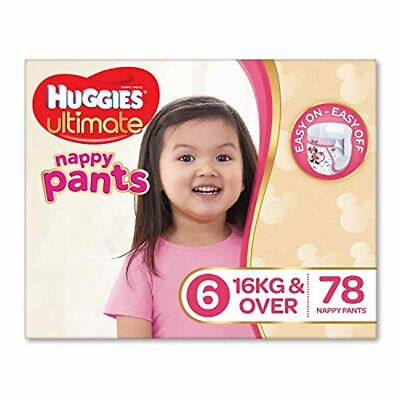 AU99.95 • Buy Huggies Ultimate Nappy Pants ,Girls, Size 6 Junior (16+kg), 78 Count